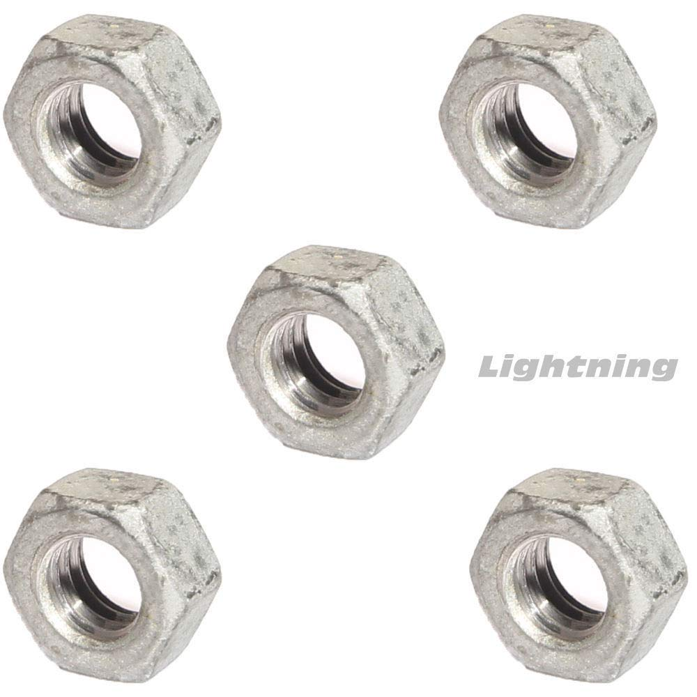 """1//4/"""" to 3/"""" Hot Dip Galvanized Steel Hex Nuts HDG Dipped Hex Finished Nuts"""