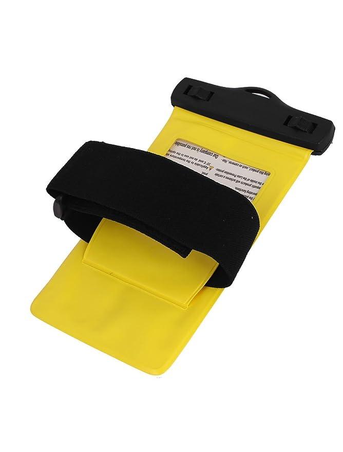 Amazon.com: eDealMax Funda impermeable del bolso seco de la piel cubierta de la Bolsa de ahorro Amarillo Para el teléfono celular: Electronics