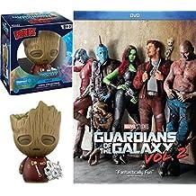Marvel Groot Dorbz Movie Figure Guardians of the Galaxy Vol. 2 Super Hero Bundle (DVD + Digital) Cinematic Universe Funko Exclusive Collectible #292
