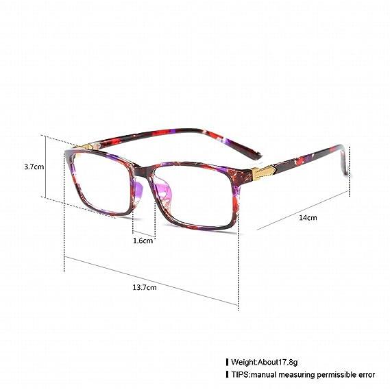 Fashion Trend Gläser Ultra-Light Tr Flache Licht Linse , Transparent / Blauer Punkt Gelb