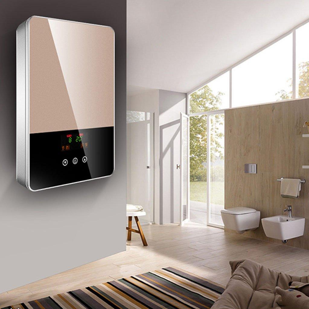 Calentador de agua eléctrico instantáneo, termóstato casero Calentador de agua eléctrico de acero inoxidable 3 segundos Calentador de agua eléctrico, ...
