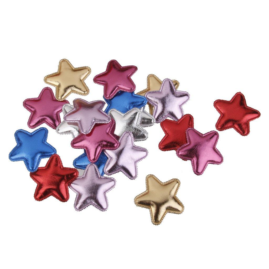20pcs PU Pinzas Venda De Bricolaje Para Cabello Estrella De Cinco Puntas Que Hacen Para Bebés STK0155000714