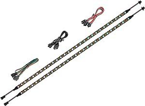 BTF-LIGHTING LED RGB PC Light Strip 2PCs 19in Individually Addressable LED Strip for 5V 3-Pin RGB LED headers for Asus Aura, Asrock RGB Led, Gigabyte RGB Fusion, MSI Mystic Light