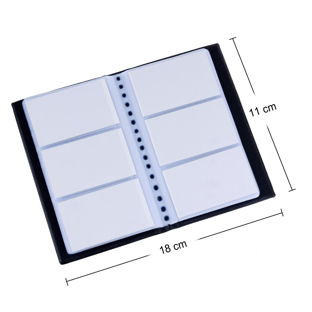 Zacro 150 Porte Cartes De Visite Carte Livre PVC Pour Ranger Fidlit Crdit Etc Noir Amazonfr