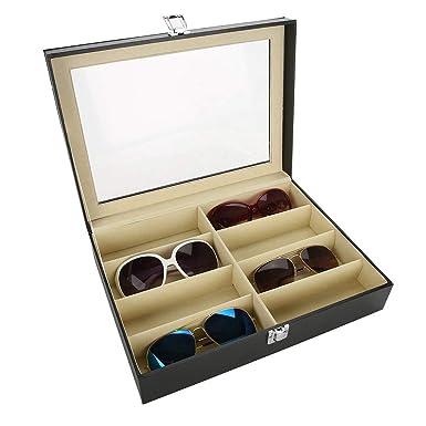 Amazon.com: Caja de almacenamiento de gafas de sol con ...