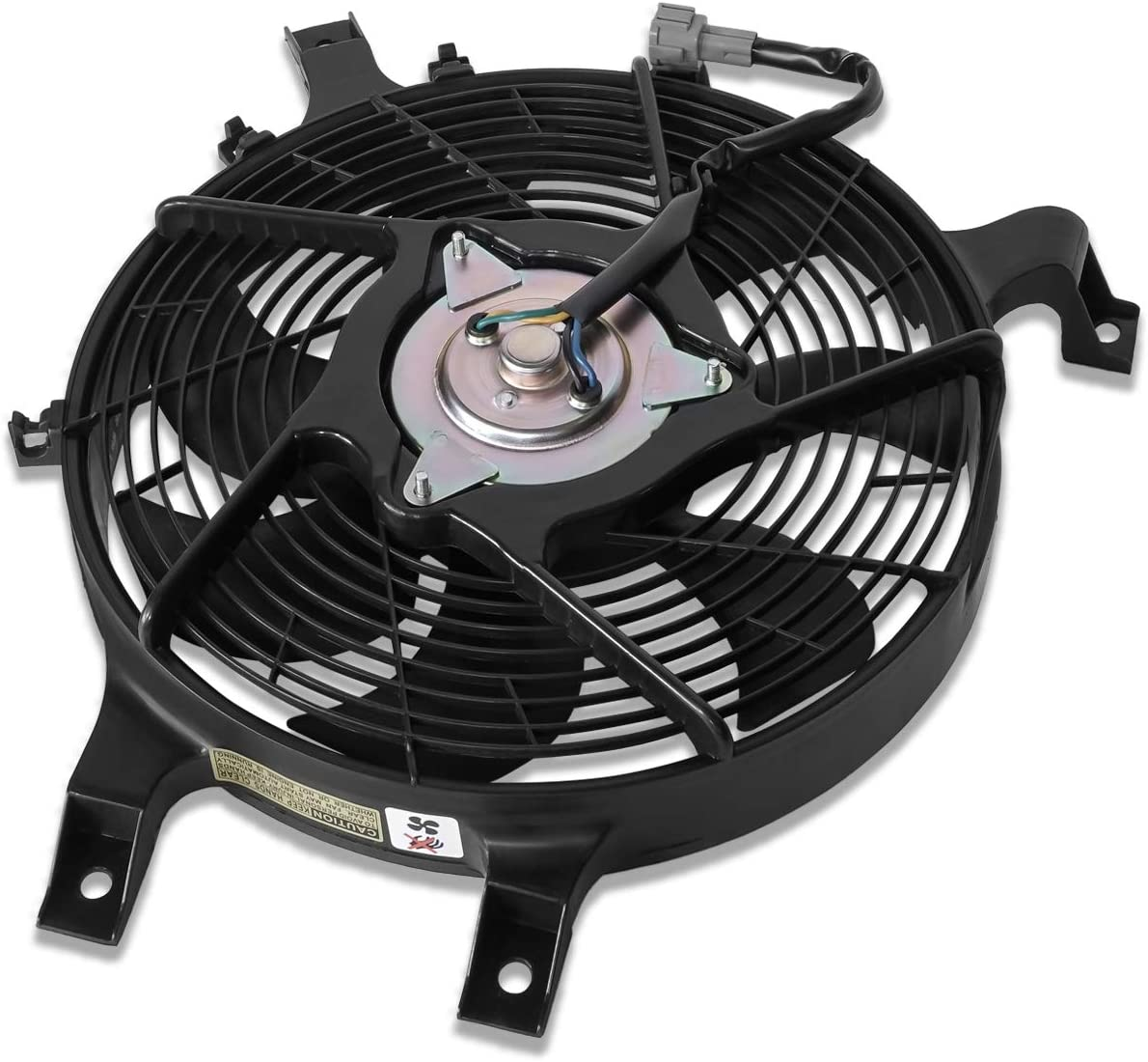 NI3113106 OE Style AC Condenser Cooling Fan Assembly Replacement for Nissan Frontier Xterra 99-00