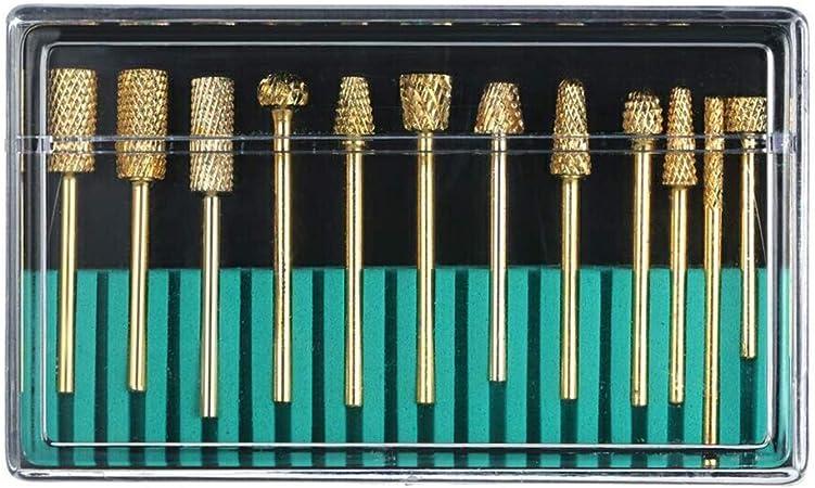 Herramientas para clavos Clave la máquina pulidora con el pulido de oro de la cabeza de pulido dentro de 12 juegos de diamante diamante: Amazon.es: Belleza