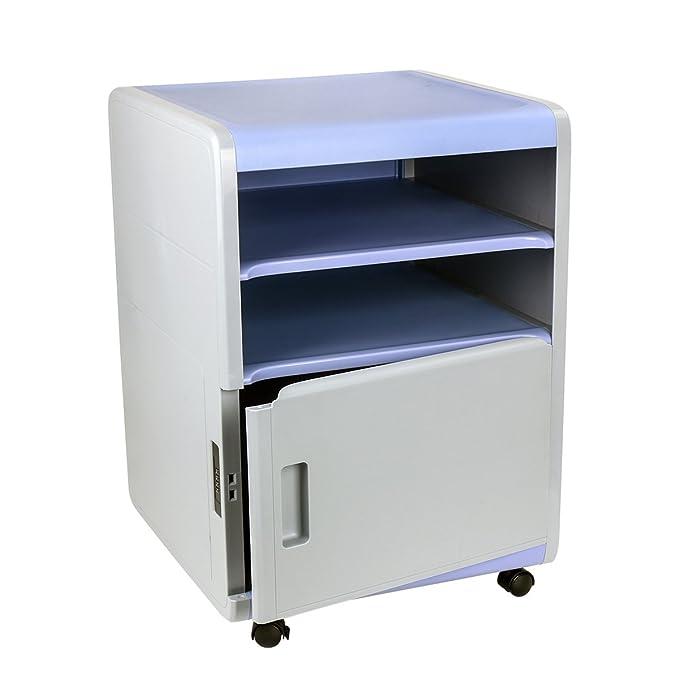 cajonera de oficina, archivador con cajones de ABS cajones de almacenamiento de plástico para oficina, sala, escuela (purpura)