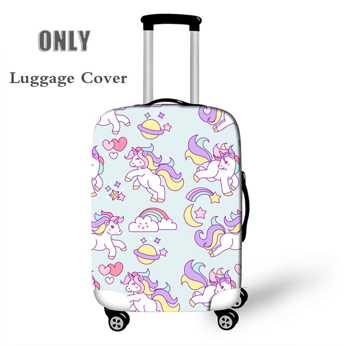 c56543a1fba1 OSVINO Cartoon Cute Unicorn Durable Washable Travel Luggage Suitcase  Protector, Unicorn C, M: For 22