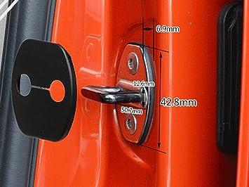 Lote de 4 cubiertas de protección para cerraduras de puertas, marca Muchkey: Amazon.es: Coche y moto