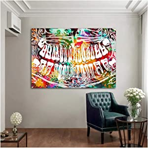 Colorful Tooth Laugh Dental Art Dentist Canvas Painting Modern Art Wall Picture for Medical Education Office Home Decor 70x100cm(28x40in)