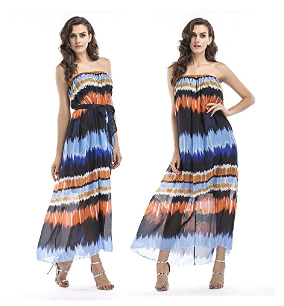 7812d9f042 Image Unavailable. Image not available for. Color  Maleroads Women Long  Maxi Tube Dress ...