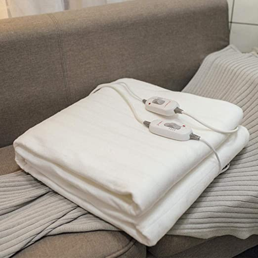 Calienta Camas Manta Eléctrica Lavada control Doble control de 3 Velocidades 200-180-1.8M Doble Cuerda Elástica de Doble control: Amazon.es: Salud y cuidado personal