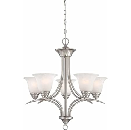 Volume Lighting V5245-33 Trinidad 5-Light Chandelier, 23.75 x 23.75 x 24.5 , Brushed Nickel