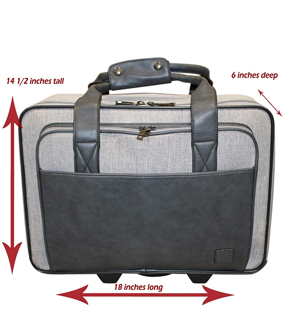 Simply Noelle Commuter Roller Bag Steel