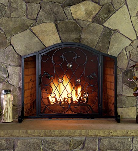 28 plow and hearth fireplace screen floral fireplace screen