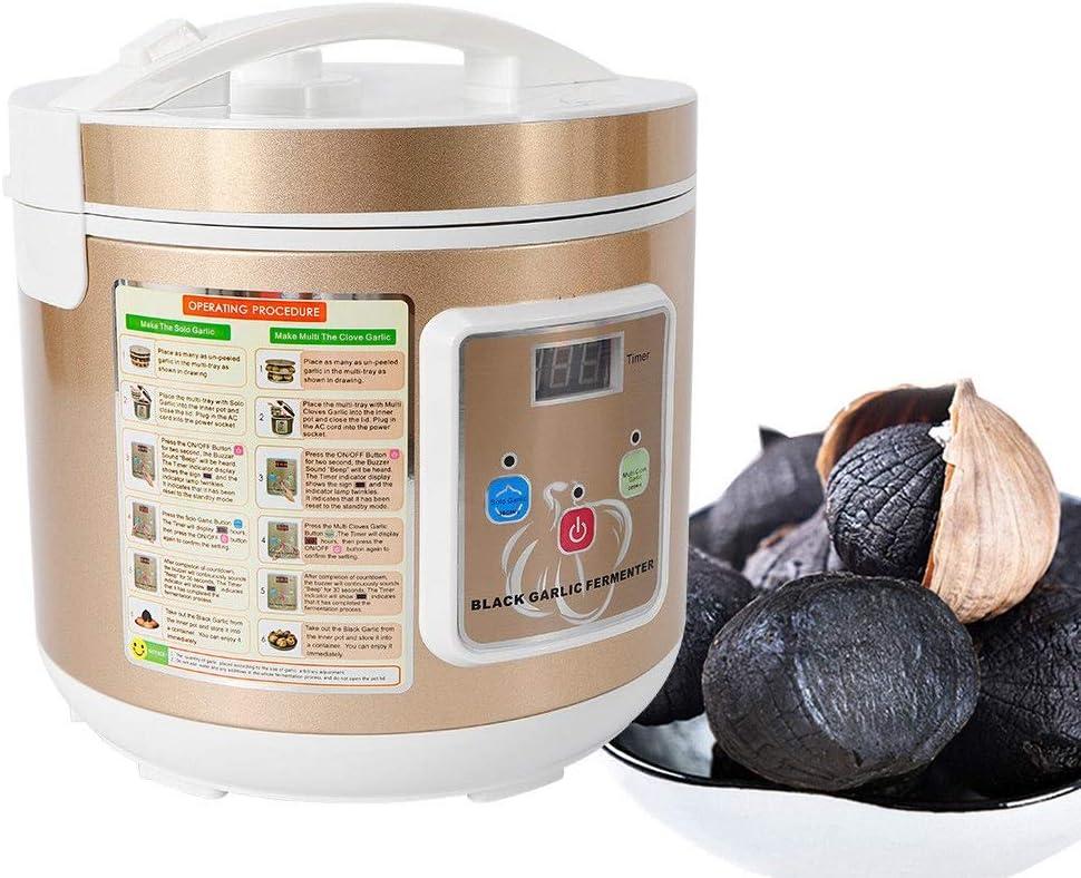 WUPYI2018 Fermentador de ajos negro, 90 W, máquina de fermentación inteligente para el hogar, DIY Zymolysis Pot, capacidad 5 L