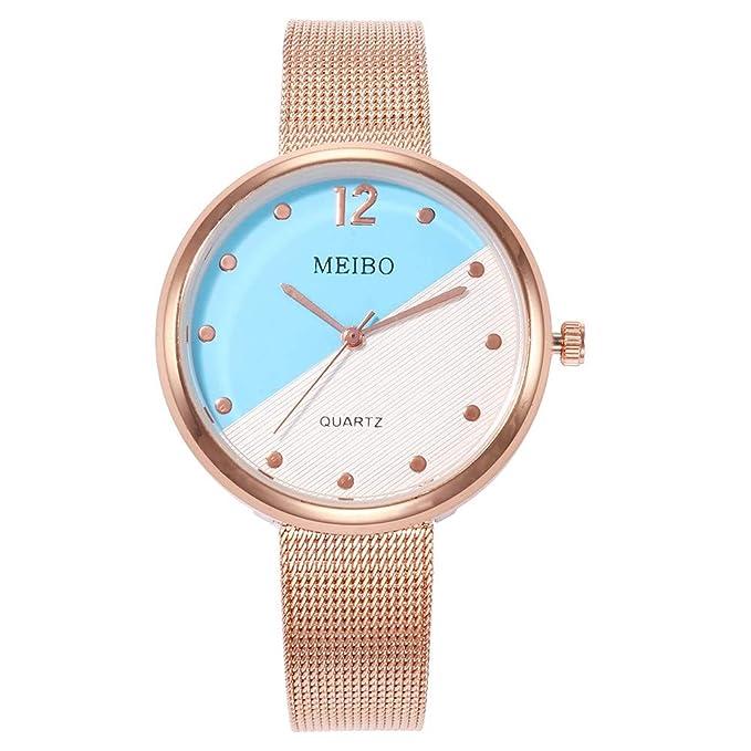 Amazon.com: Yaida´MEIBO Reloj de pulsera analógico de cuarzo ...
