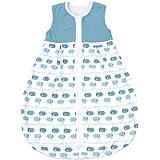 EMMA & NOAH Sacco Nanna Baby, per Temperature 18-24°C (1.0 Tog), 100% Cotone, Ideale Come Sacco a Pelo per Bambini, Tutina Neonato, Sacco a Pelo Estivo, Pagliaccetto