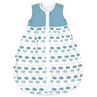 Emma & Noah Baby Schlafsack, verschiedene Größen und Farben, Kugelschlafsack, geeignet für Sommer, 18-24°C (1.0 Tog), 100% Baumwolle, ideal als Babyschlafsack, Sommerschlafsack, Schlummersack