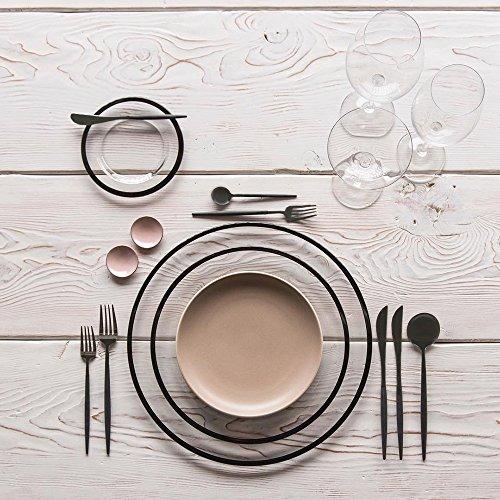 LEKOCH 7 Inches Stainless Steel Appetizer / Salad / Dessert Spoon Set Of 4 (Black) by Lekoch (Image #5)