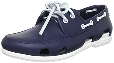 85b50a491 Crocs Beach Line Men s Boat Shoes - Blue (Navy White)
