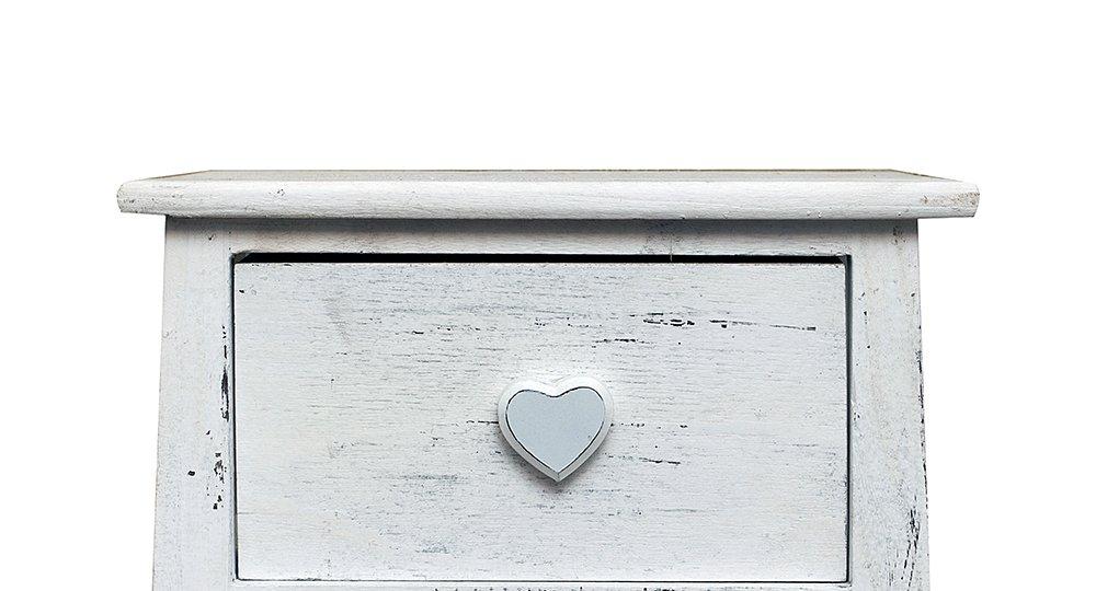 Legno Bianco Vintage : Rebecca srl comodino cassettiera romantica cassetti legno bianco