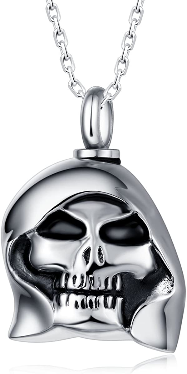 Valyria Cremation Jewelry Stainless Steel Bone Shaped Urn Pendant Keepsake Necklace