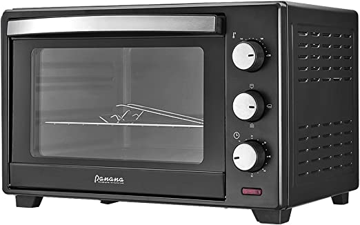 Panana Black 30L 1600w Mini Oven Table Top Grill Wire Rack Baking Kitchen & Home Appliances
