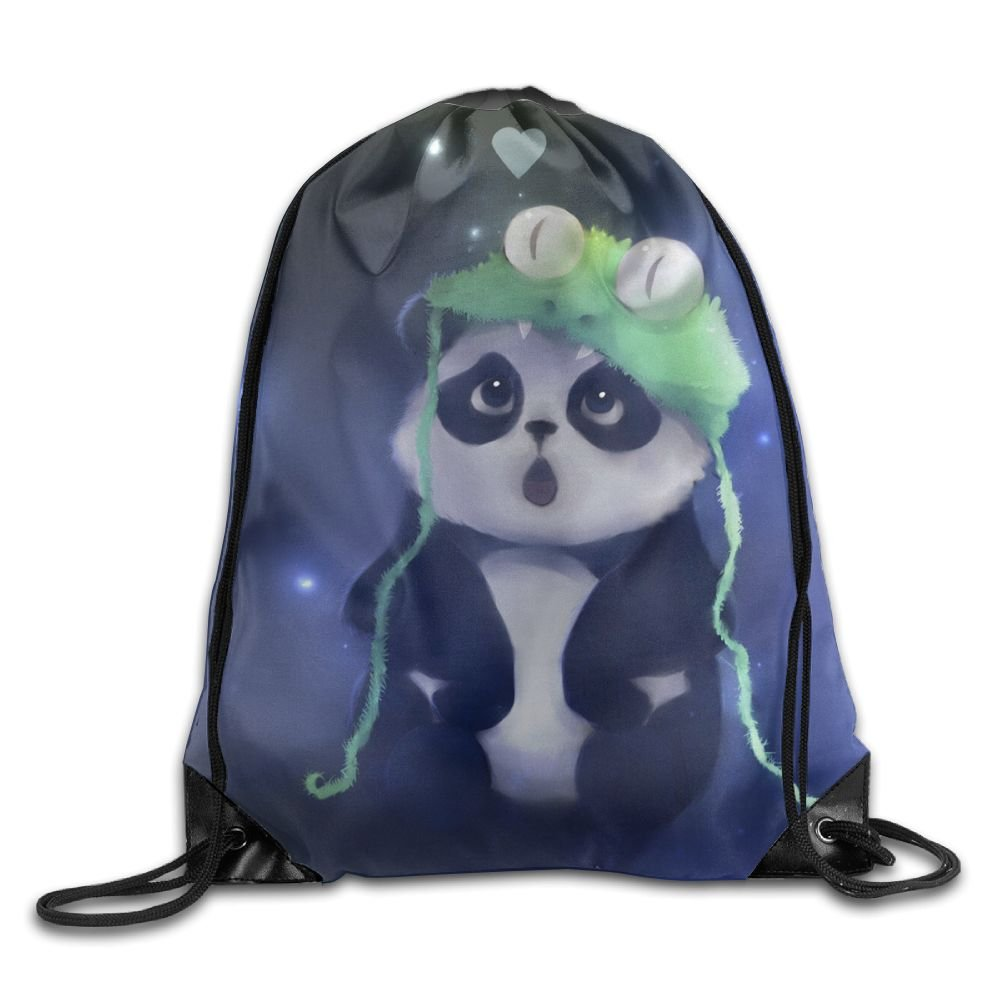791fb6c46301 Kawaii Panda Womens Lightweight Drawstring Backpack Gymbag Gymsack String  Sackpack Knapsack For Sports durable service