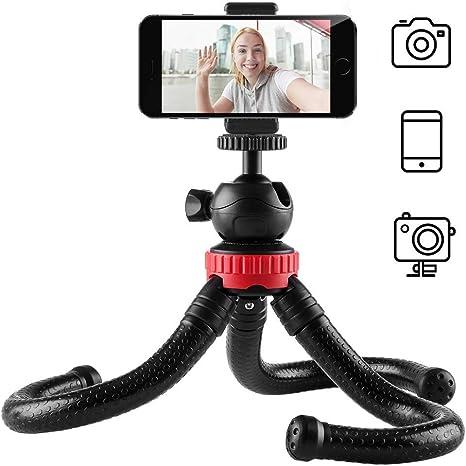 newdora Mini trípode plegable para smartphone, cámara, iPhone, clavijas adaptadoras soporte de teléfono móvil Universal para vídeo y fotos: Amazon.es: Electrónica