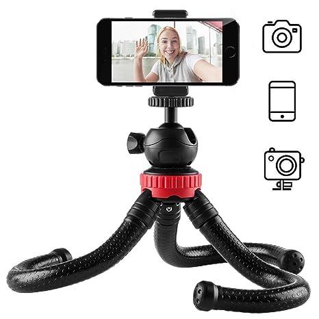 Newdora Stativ Kamera Stativ für Mobiltelefone Smartphone Fotoausrüstung SLR Kamera Reise Stativ Tripod flexibel leicht (Schw