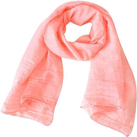 Emorias 1 Pcs Pañuelos de Algodón Bufanda Mujer Color Sólido ...