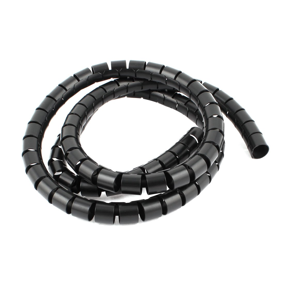 uxcell Flexible Spiral Tube Cable Wire Wrap PC Cord Management 1.5M 5Ft Black