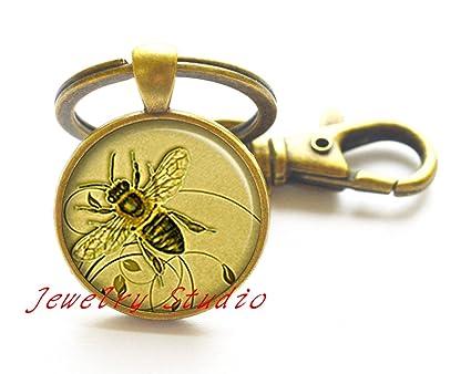 Honeybee llavero, miel abeja llavero, miel abeja llavero ...