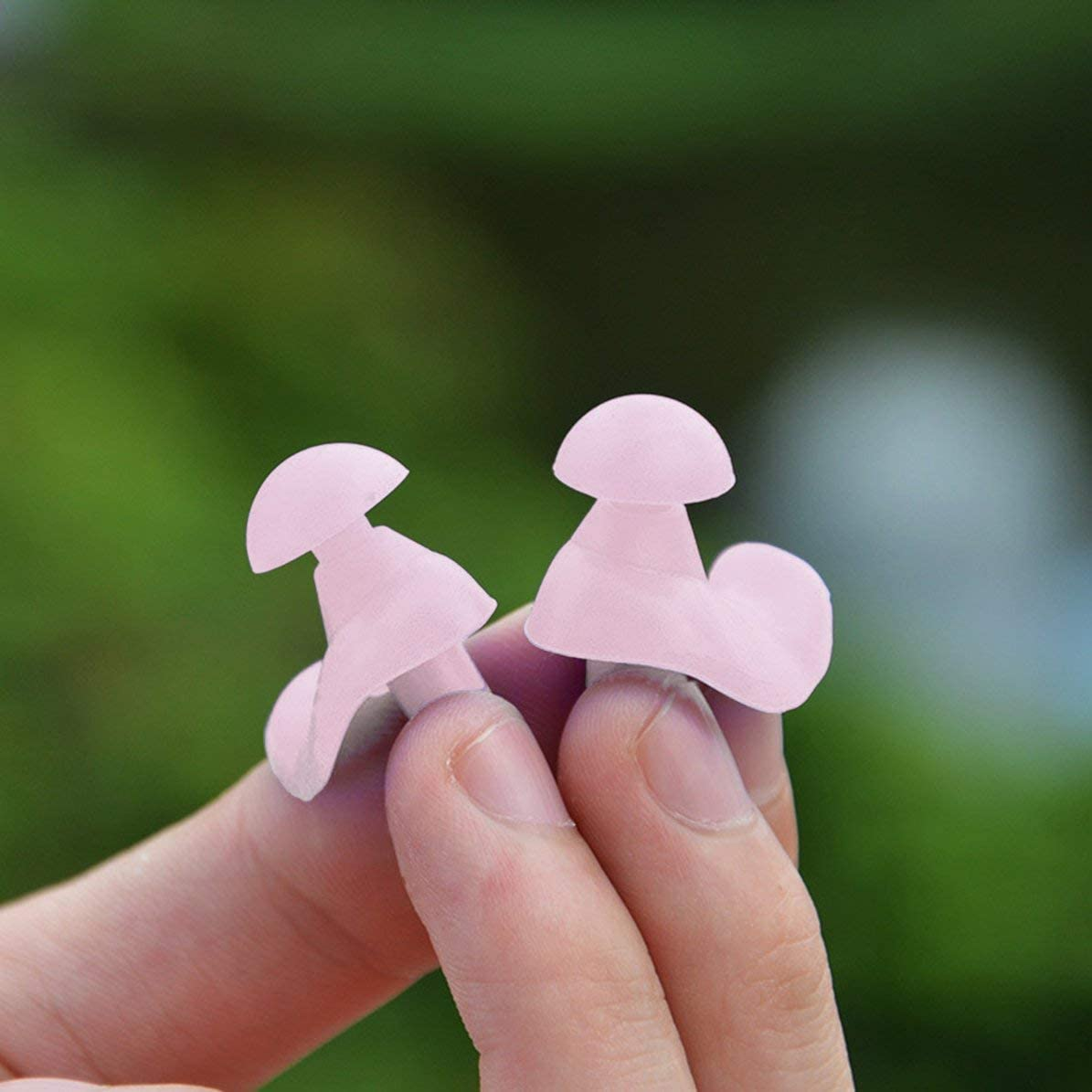 WEIWEITOE 1 Pair Waterproof Swimming Professional Silicone Swim Earplugs Soft Anti-Noise Ear Plug for Adult Children Swimmers,pink,
