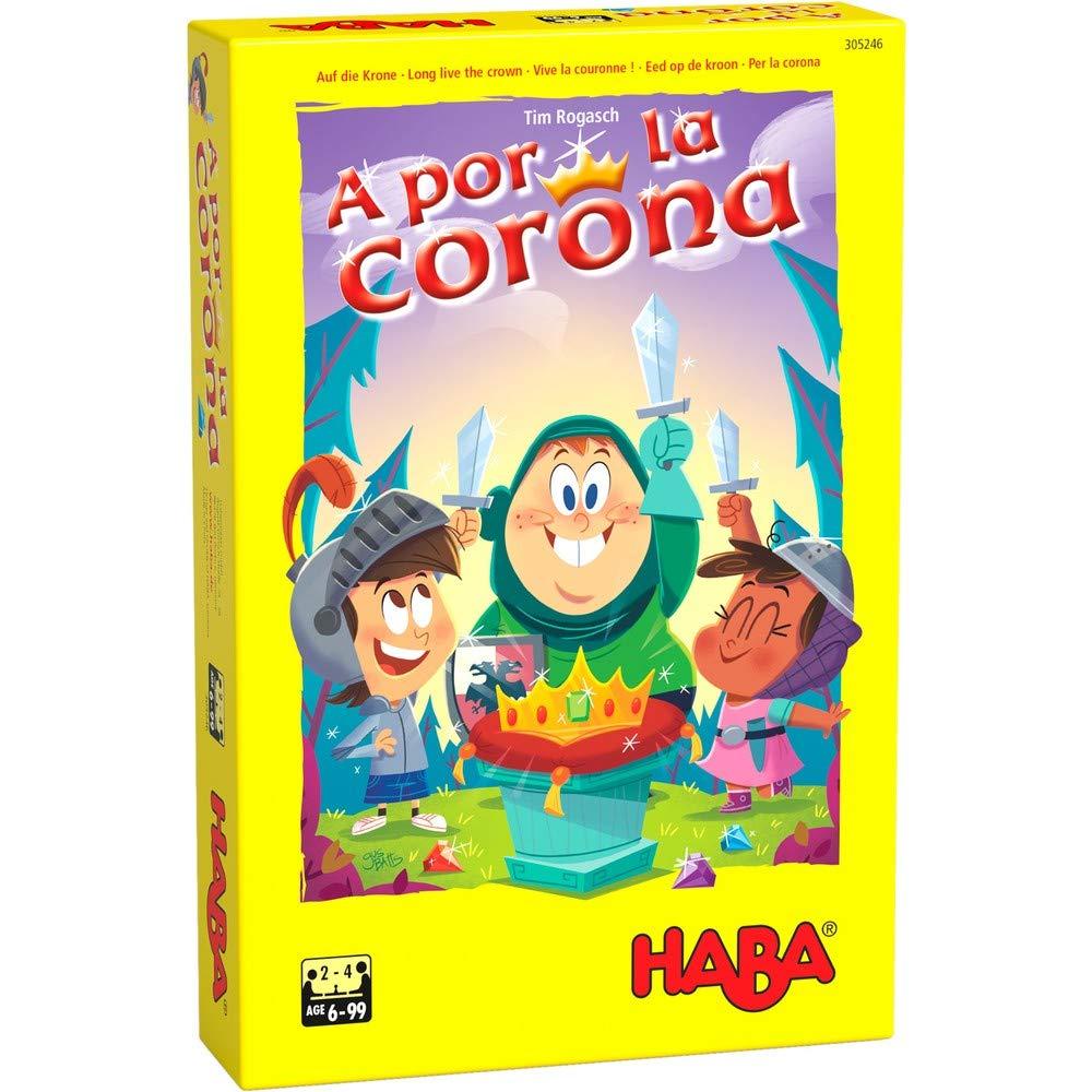 H305246 Multicolor Haba Juego de Mesa A por la Corona-ESP