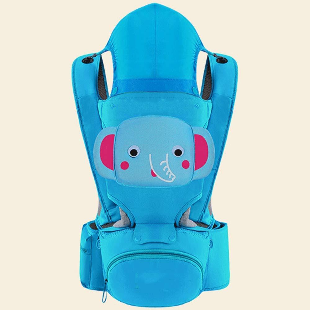 Neugeborener Babyfrontumarmungskind-Taillenschemel des Babyriemen-Babys (Farbe : Blau)