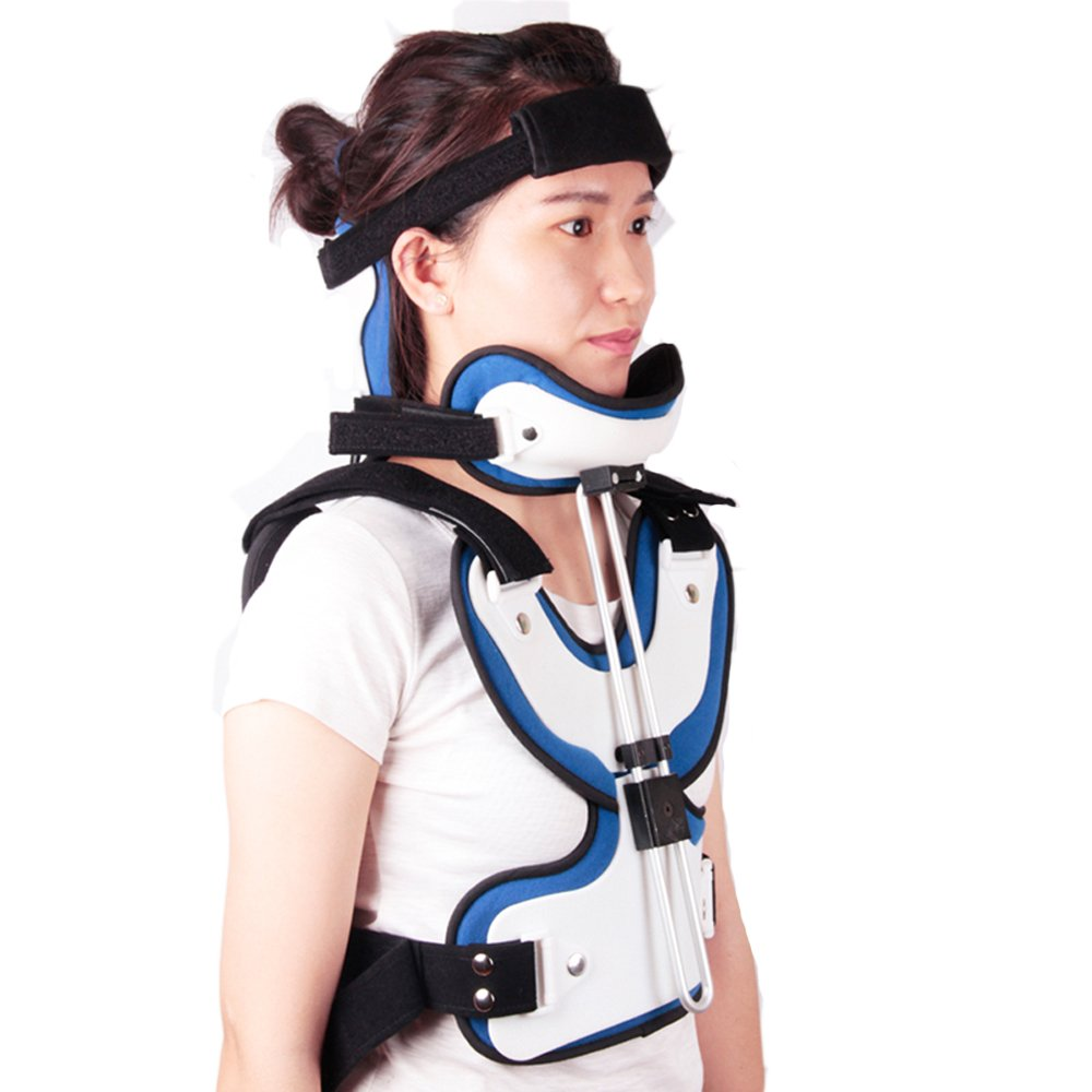 Adjustable Cervical Thoracic Orthosis Head Neck Chest Orthotics Breathable Adults Thoracic Fracture Neck Brace Chest Supports After Cervical Surgery Orthosis Free SHIPPIG EMS by Orthokong