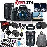 6Ave Canon EOS Rebel T6i DSLR Camera 18-55mm Lens, 55-250mm Lens 16-35mm - 3 Lens Combo International Version