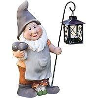 Frank - Gnomo de jardín con linterna