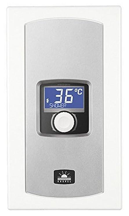 Calentador de agua eléctrico EPME, eléctrico con pantalla LCD, 5,5-9