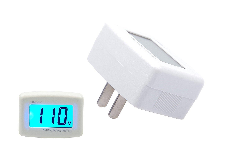 LM YN Plug-type AC110V 80-300V Home Digital Voltmeter AC Meter Plug and Play
