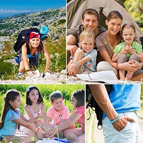Queta Pulseras Repelentes de Mosquitos 12 Piezas con Citronela e Impermeables No Contiene DEET y Libres de Sustancias T/óxicas o Nocivas para Adultos y Ni/ños