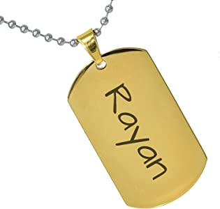Stainless Steel Silver Gold Black Rose Gold Color Baby Name Yimeyam Engraved Personalized Gifts For Son Daughter Boyfriend Girlfriend Initial Customizable Pendant Necklace Dog Tags 24 Ball Chain