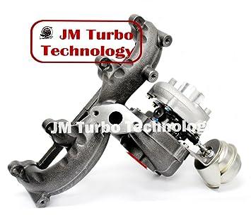 VW Audi 1.9t TDI K04 Turbo GT1749 V turbocompresor wastegate de colector de hierro fundido nuevo: Amazon.es: Coche y moto