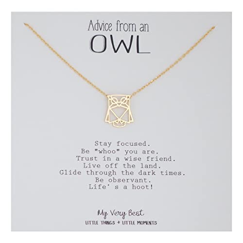 Amazon My Very Best Geometric Origami Owl Necklace Gold Plated