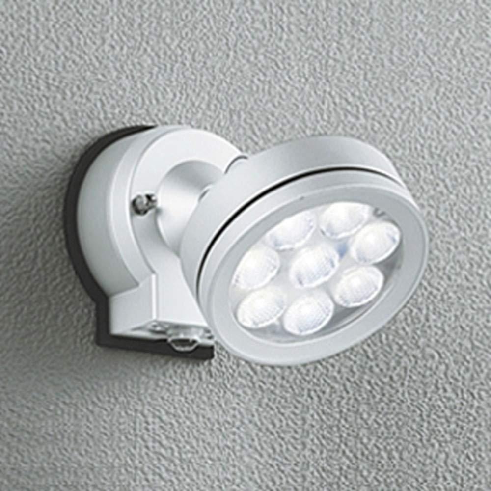 オーデリック LEDスポットライト 防雨型 ビーム球150W相当 LED×8灯 電球色 ワイド配光 人感センサ付 マットシルバー OG254216 B00751LFJ2