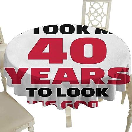 Curioly - Mantel Lavable para 36 cumpleaños, diseño Vintage ...