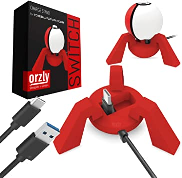 Orzly Cargador Pokeball Plus, Rojo, Base de Carga Nintendo Switch Poke Ball Plus, Estación de Carga para el Pokeball Nintendo Switch Controller, Dock Incluye Cable de Carga USB Incorporado: Amazon.es: Electrónica